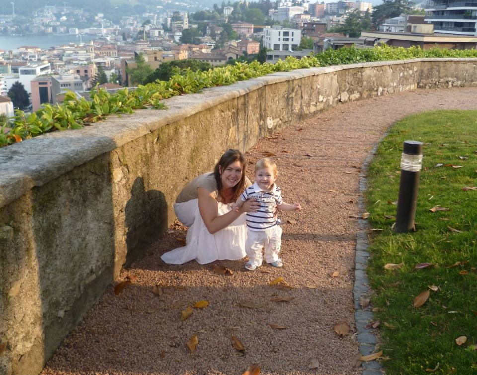 My wife Tamara and my son Alessandro (2012).